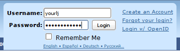 Log in with a Livejournal account, step 3