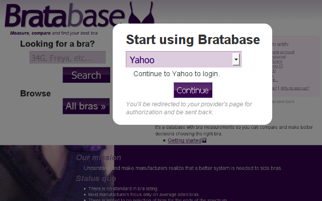Log in with a Yahoo account, step 1