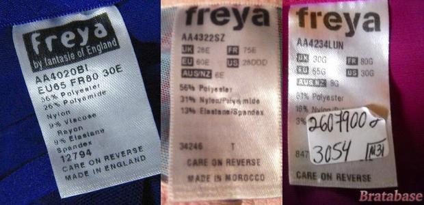 Freya bra tags