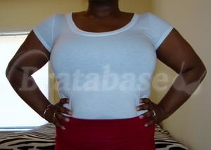 Mia 36FF wearing shirt front