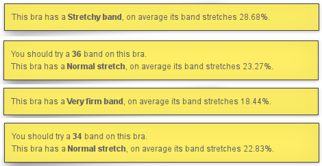 How much does a bra stretch